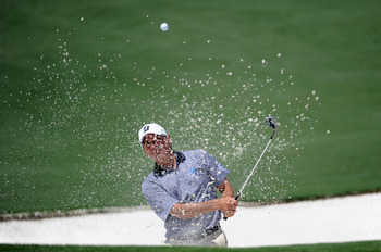 AUGUSTA, GA - APRIL 10:  Fred Couples hits from a bunker during the final round of the 2011 Masters Tournament at Augusta National Golf Club on April 10, 2011 in Augusta, Georgia.  (Photo by Harry How/Getty Images)