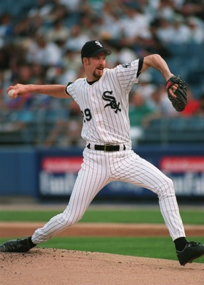 30 JUL 1994:  PITCHER JACK MCDOWELL IN ACTION DURING A 4-2 WIN OVER THE MARINERS AT COMISKY PARK IN CHICAGO, ILLINOIS. Mandatory Credit: Jonathan Daniel/ALLSPORT