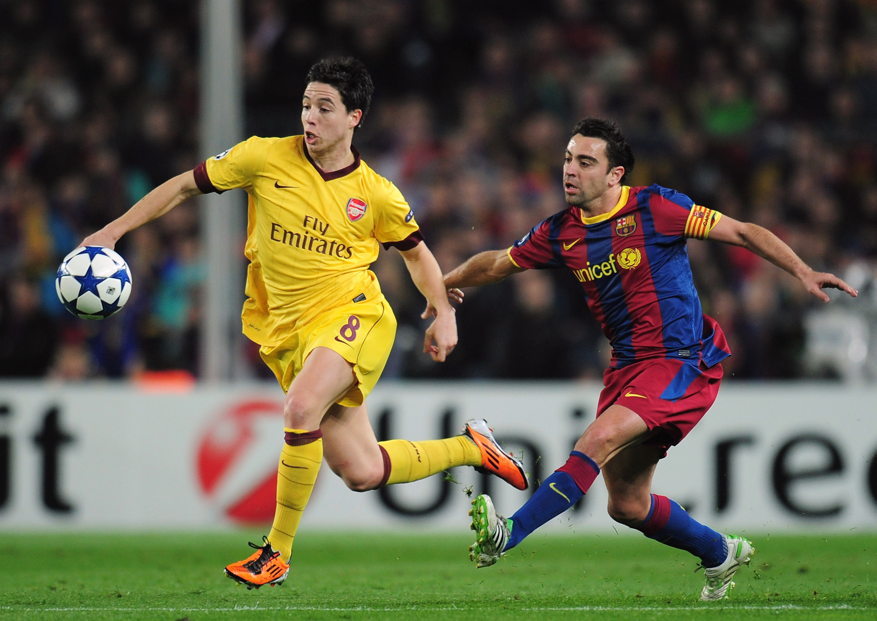 Arsenal's Samir Nasri (left)