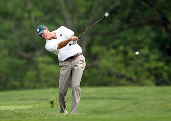 DUBLIN, OH - JUNE 05:  Matt Kuchar hits his second shot on the par 4 10th hole during the final round of the Memorial Tournament presented by Nationwide Insurance at Muirfield Village Golf Club on June 5, 2011 in Dublin, Ohio.  (Photo by Andy Lyons/Getty