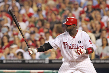 PHILADELPHIA - JUNE 8: First baseman Ryan Howard #6 of the Philadelphia Phillies bats during a game against the Los Angeles Dodgers at Citizens Bank Park on June 8, 2011 in Philadelphia, Pennsylvania. (Photo by Hunter Martin/Getty Images)
