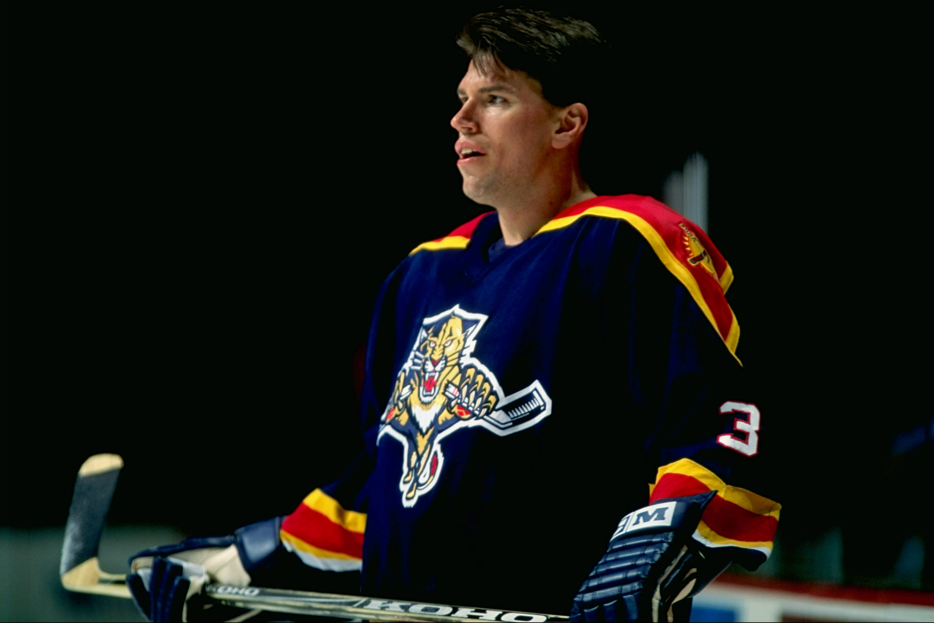 13 Feb 1999:  Paul Laus #3 of the Florida Panthers waits on the ice during the game against the Montreal Canadiens at the Molson Centre in Montreal, Canada. The Canadiens defeated the Panthers 0-4. Mandatory Credit: Robert Laberge  /Allsport