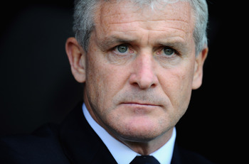 LONDON, ENGLAND - MAY 22:  Mark Hughes, manager of Fulham before the Barclays Premier League match between Fulham and Arsenal at Craven Cottage on May 22, 2011 in London, England.  (Photo by Clive Mason/Getty Images)