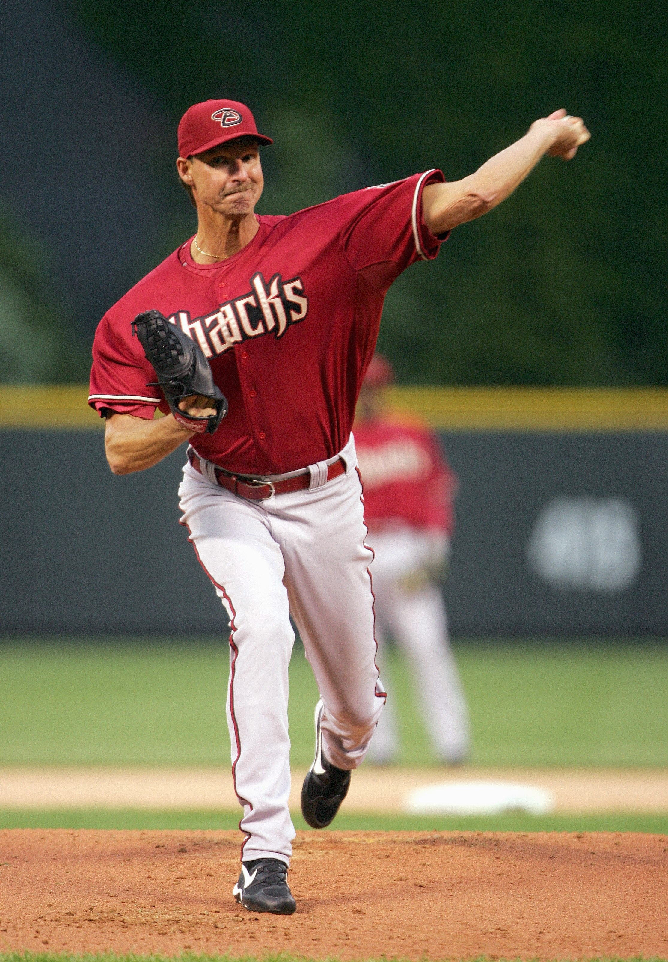 DENVER - MAY 15: Starting pitcher Randy Johnson #51 of the Arizona Diamondbacks delivers the pitch against the Colorado Rockies on May 15, 2007 at Coors Field in Denver, Colorado. (Photo by Doug Pensinger/Getty Images)