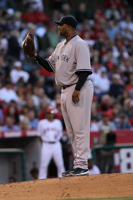 ANAHEIM, CA - JUNE 04:  CC Sabathia #55 of the New York Yankees pitches against the Los Angeles Angels of Anaheim on June 4, 2011 at Angel Stadium in Anaheim, California.  The Yankees won 3-2.  (Photo by Stephen Dunn/Getty Images)