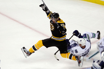 BOSTON, MA - JUNE 08:  Tyler Seguin #19 of the Boston Bruins in action against the Vancouver Canucks during Game Four of the 2011 NHL Stanley Cup Final at TD Garden on June 8, 2011 in Boston, Massachusetts.  (Photo by Bruce Bennett/Getty Images)