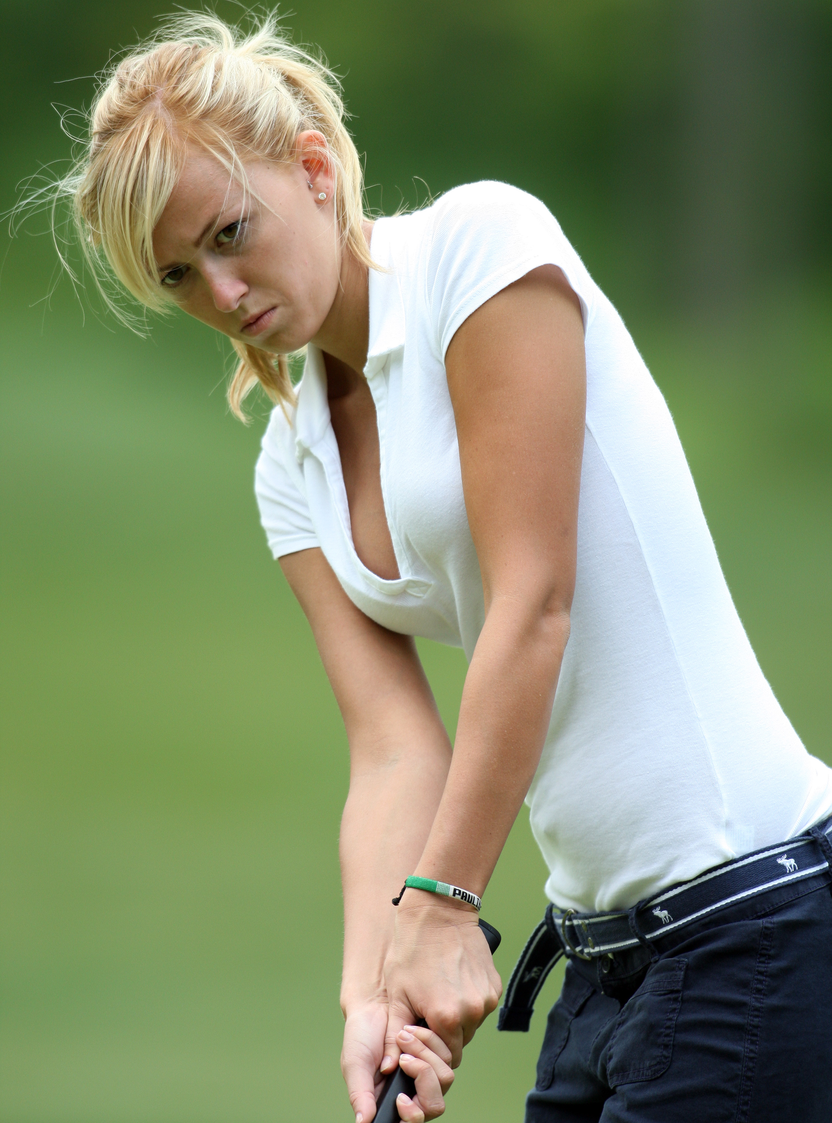 CLARKSBURG, ON - JUNE 26:  Paulina Gretzky plays in the first round of the Ford Wayne Gretzky Classic on June 26, 2008 in Clarksburg, Ontario.  (Photo by Claus Andersen/Getty Images)