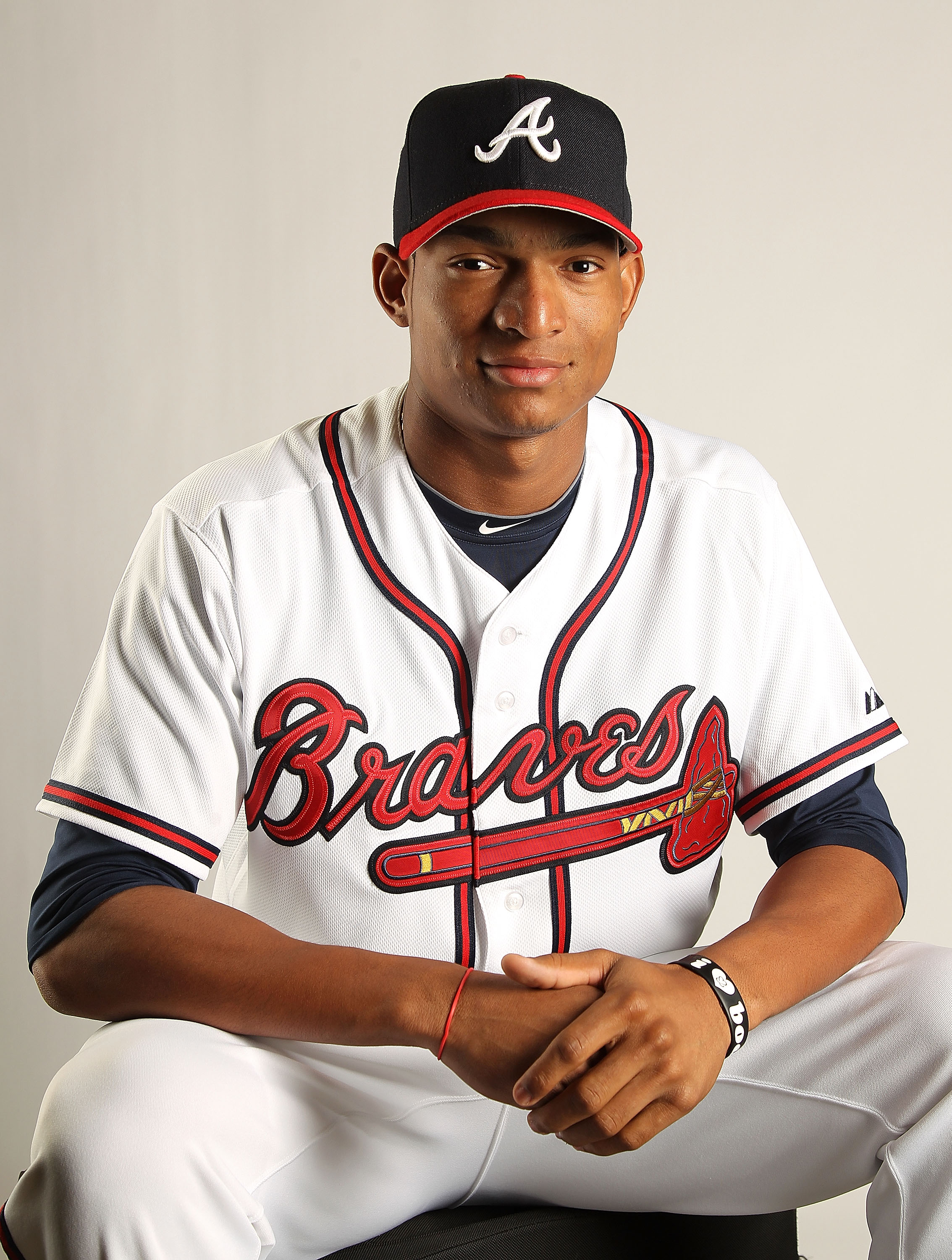 LAKE BUENA VISTA, FL - FEBRUARY 21: Christian Bethancourt #73 of the Atlanta Braves during Photo Day at  Champion Stadium at ESPN Wide World of Sports of Complex on February 21, 2011 in Lake Buena Vista, Florida.  (Photo by Mike Ehrmann/Getty Images)