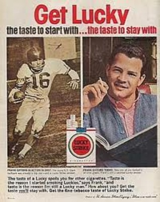 Giants RB Frank Gifford magazine ad