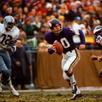 Vikings QB Fran Tarkenton began a new term in pro football: The Scramble