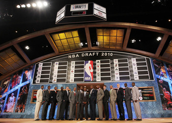 NEW YORK - JUNE 24: NBA Draft prospects pose for a group photo prior to the NBA Draft at Madison Square Garden on June 24, 2010 in New York City. NOTE TO USER: User expressly acknowledges and agrees that, by downloading and or using this photograph, User