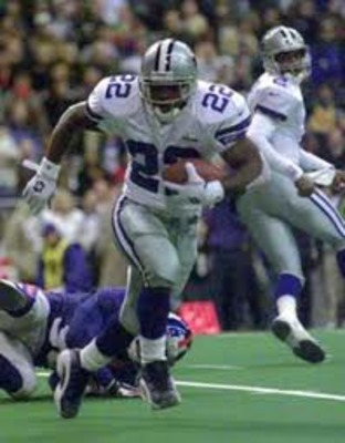 Cowboys Emmitt Smith would go on to become the NFL's All-time rushing leader.