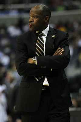WASHINGTON - MARCH 17:  Head coach Mike Anderson of the Missouri Tigers watches during the second round of the 2011 NCAA men's basketball tournament at the Verizon Center on March 17, 2011 in Washington, DC.  (Photo by Nick Laham/Getty Images)