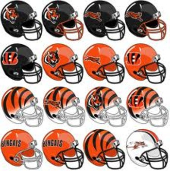 Lots of helmet options for the Bengals
