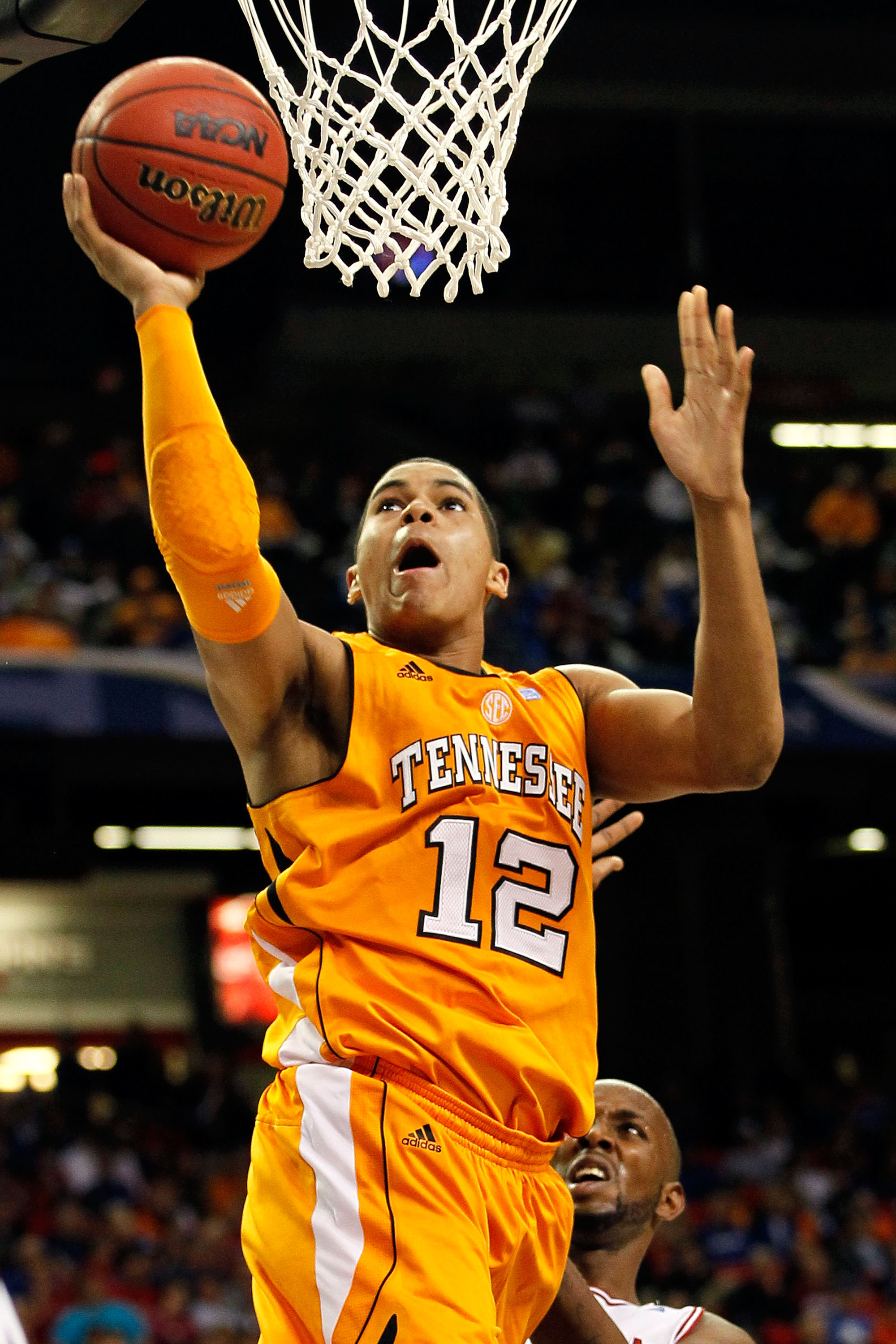 ATLANTA, GA - MARCH 10:  Tobias Harris #12 of the Tennessee Volunteers shoots against the Arkansas Razorbacks during the first round of the SEC Men's Basketball Tournament at the Georgia Dome on March 10, 2011 in Atlanta, Georgia.  (Photo by Kevin C. Cox/