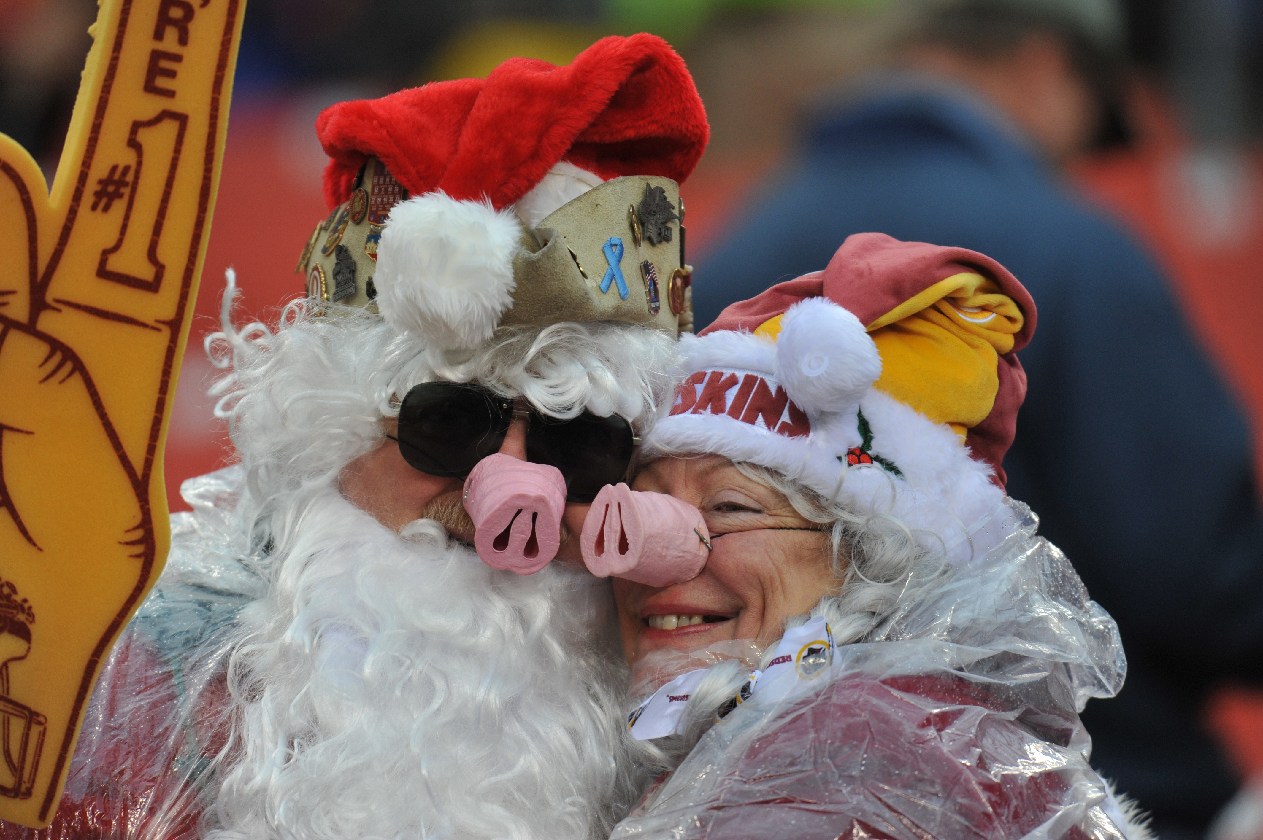 LANDOVER, MD - DECEMBER 12: Fans of the Washington Redskins watch the game against the Tampa Bay Buccaneers at FedExField on December 12, 2010 in Landover, Maryland. The Buccaneers defeated the Redskins 17-16. (Photo by Larry French/Getty Images)