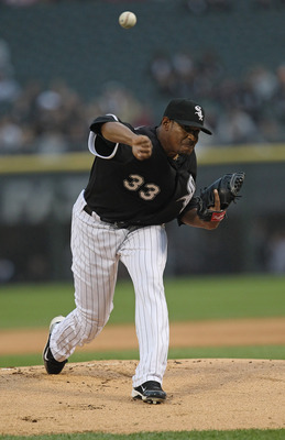 CHICAGO, IL - JUNE 10:  Starting pitcher Edwin Jackson #33 of the Chicago White Sox delivers the ball against the Oakland Athletics at U.S. Cellular Field on June 10, 2011 in Chicago, Illinois.  The White Sox defeated the Athletics 7-5.  (Photo by Jonatha