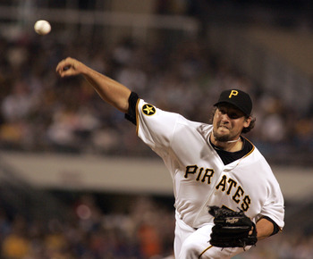 PITTSBURGH, PA - JUNE 11:  Joel Hanrahan #52 of the Pittsburgh Pirates closes out the game against the New York Mets in the ninth inning during the game on June 11, 2011 at PNC Park in Pittsburgh, Pennsylvania.  The Pirates defeated the Mets 3-2.  (Photo