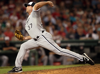 BOSTON, MA - MAY 30:  Matt Thornton #37 of the Chicago White Sox delivers a pitch in the eighth inning against the Boston Red Sox on May 30, 2011 at Fenway Park in Boston, Massachusetts.  (Photo by Elsa/Getty Images)