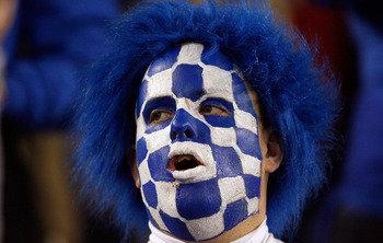 LEXINGTON, KY - NOVEMBER 28:  A Kentucky Wildcats fan is pictured during the SEC game against the Tennessee Volunteers at Commonwealth Stadium on November 28, 2009 in Lexington, Kentucky.  (Photo by Andy Lyons/Getty Images)