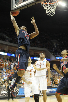 TULSA, OK - MARCH 20:  Derrick Williams #23 of the Arizona Wildcats goes up to dunk the ball against the Texas Longhorns during the third round of the 2011 NCAA men's basketball tournament at BOK Center on March 20, 2011 in Tulsa, Oklahoma.  (Photo by Ron