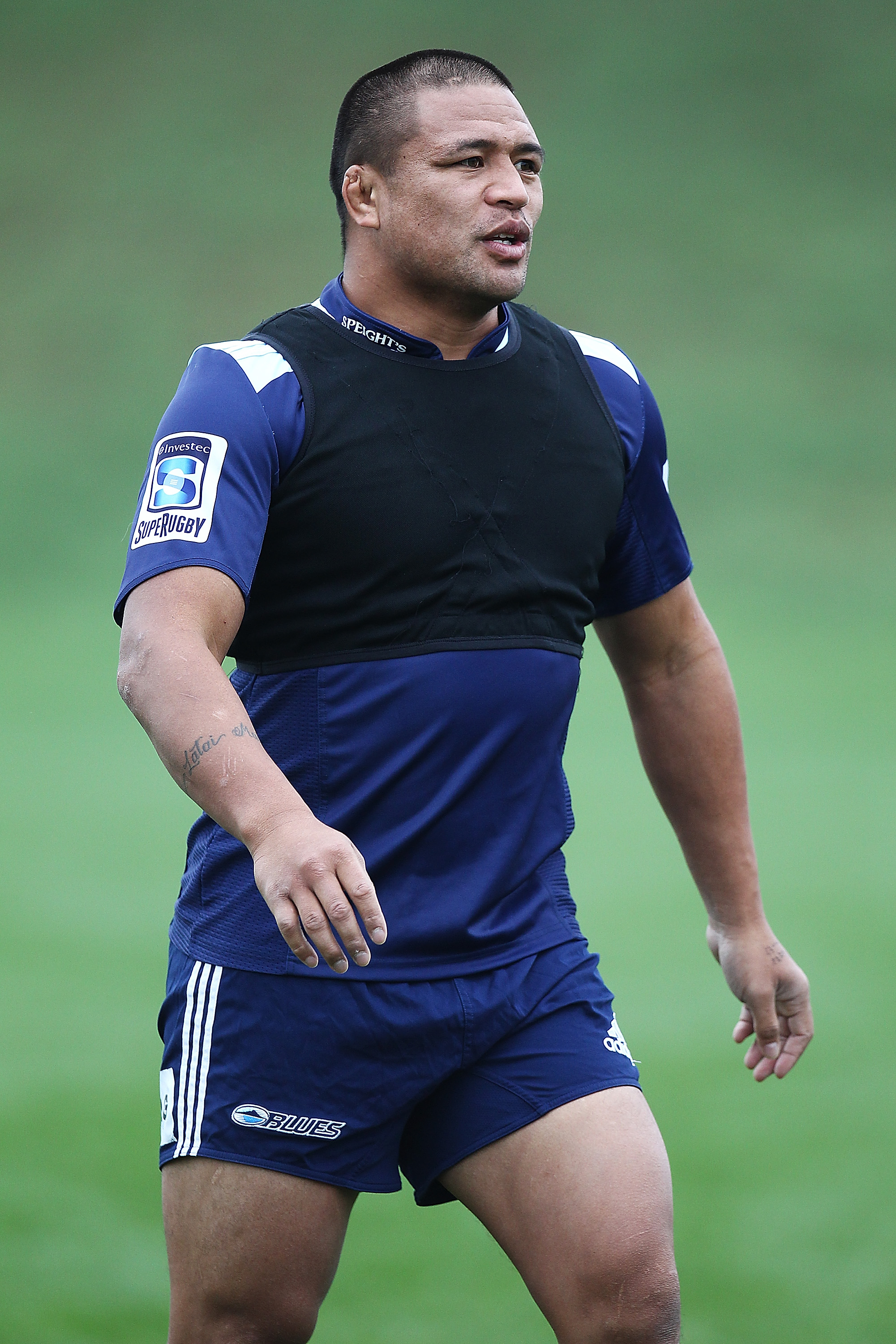 AUCKLAND, NEW ZEALAND - JUNE 09:  Keven Mealamu during an Auckland Blues Super Rugby training session at Unitec on June 9, 2011 in Auckland, New Zealand.  (Photo by Hannah Johnston/Getty Images)