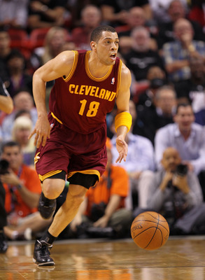 MIAMI, FL - JANUARY 31:  Anthony Parker #18 of the Cleveland Cavaliers brings the ball up the floor during a game against the Miami Heat  at American Airlines Arena on January 31, 2011 in Miami, Florida. NOTE TO USER: User expressly acknowledges and agree