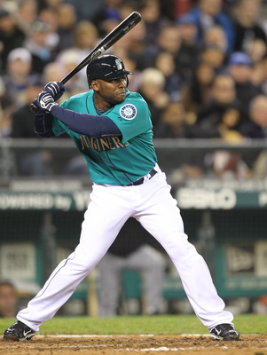 SEATTLE - MAY 06:  Milton Bradley #15 of the Seattle Mariners bats against the Chicago White Sox at Safeco Field on May 6, 2011 in Seattle, Washington. The Mariners won 3-2. (Photo by Otto Greule Jr/Getty Images)