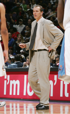 WASHINGTON - MARCH 30:  Assistant Head Coach Mike O'Koren of the Washington Wizards looks on during their NBA game against the Atlanta Hawks on March 30, 2005 at the MCI Center in Washington, D.C.  The Wizards won 102-99. NOTE TO USER:  User expressly ack