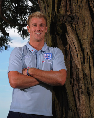 HERTFORD, ENGLAND - JUNE 01:  Joe Hart poses during the England press conference at The Grove Hotel on June 1, 2011 in Hertford, England.  (Photo by Michael Regan/Getty Images)