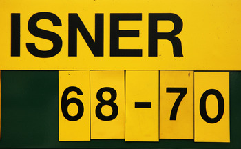 LONDON, ENGLAND - JUNE 24:  The scoreboard after the 3 day long John Isner of USA v Nicolas Mahut of France first round match on Day Four of the Wimbledon Lawn Tennis Championships at the All England Lawn Tennis and Croquet Club on June 24, 2010 in London