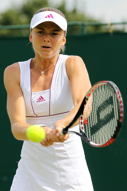 Daniela Hantuchova at Wimbledon in 2010.