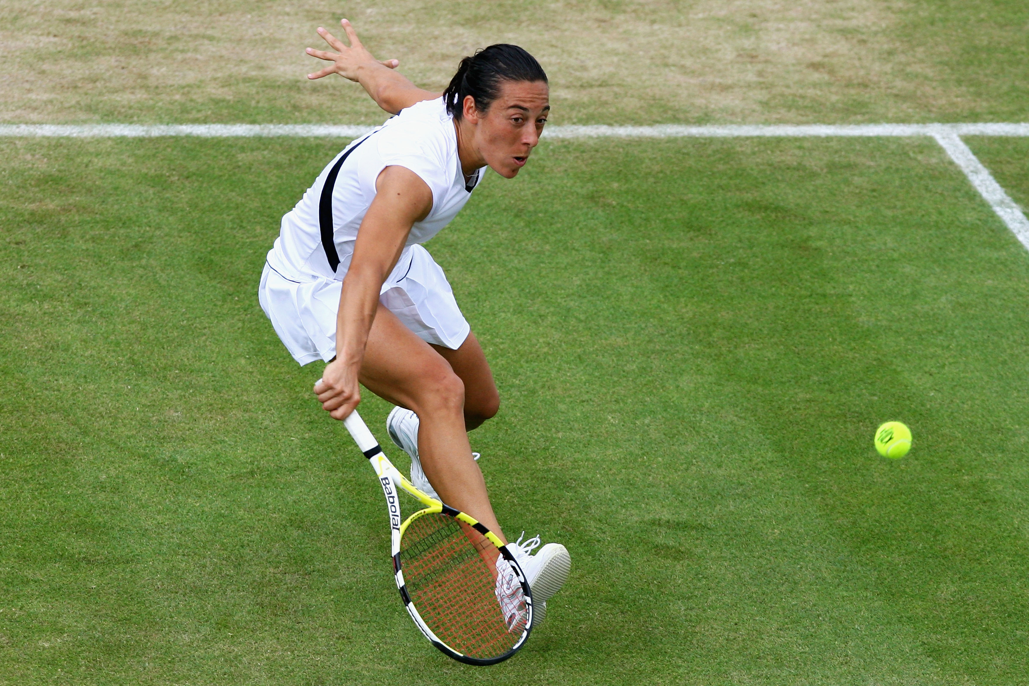 Francesca Schiavone at Wimbledon in 2009.