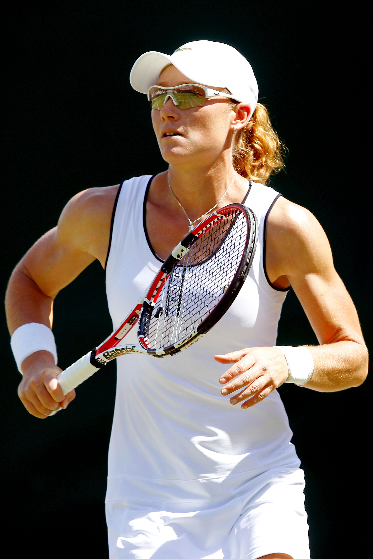 Samantha Stosur at Wimbledon in 2010.