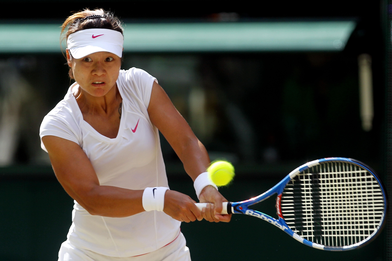 Na Li at Wimbledon in 2010.