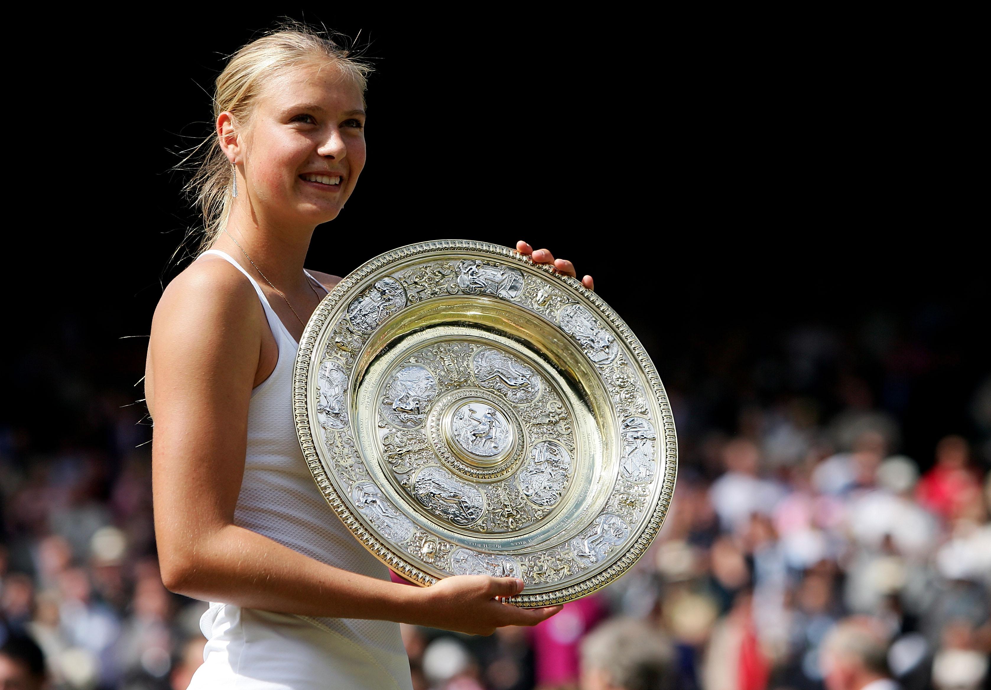 Maria Sharapova, after winning Wimbledon in 2004.