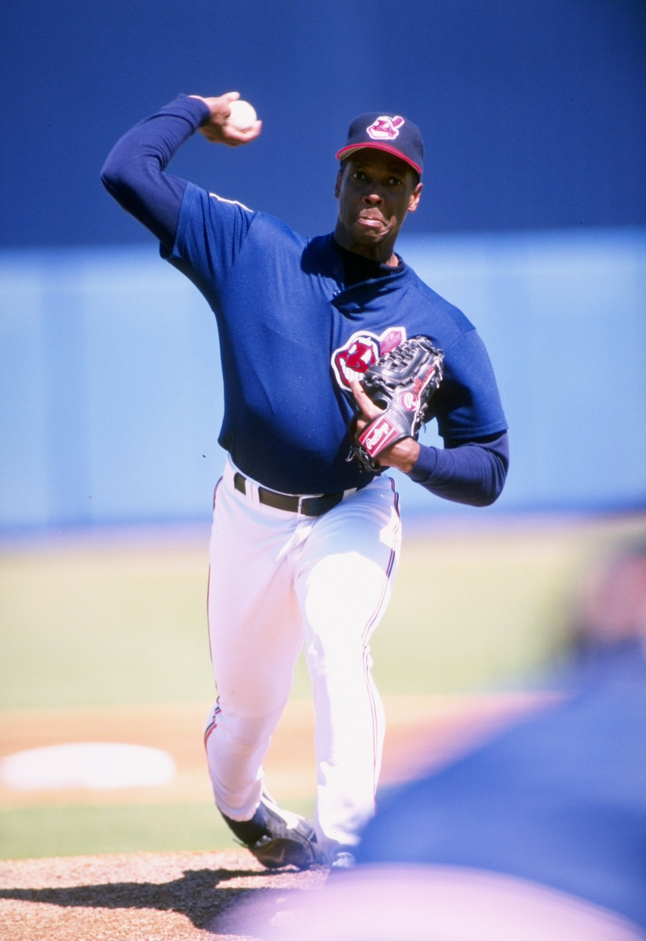 Dwight Gooden in 1998 as a Cleveland Indian