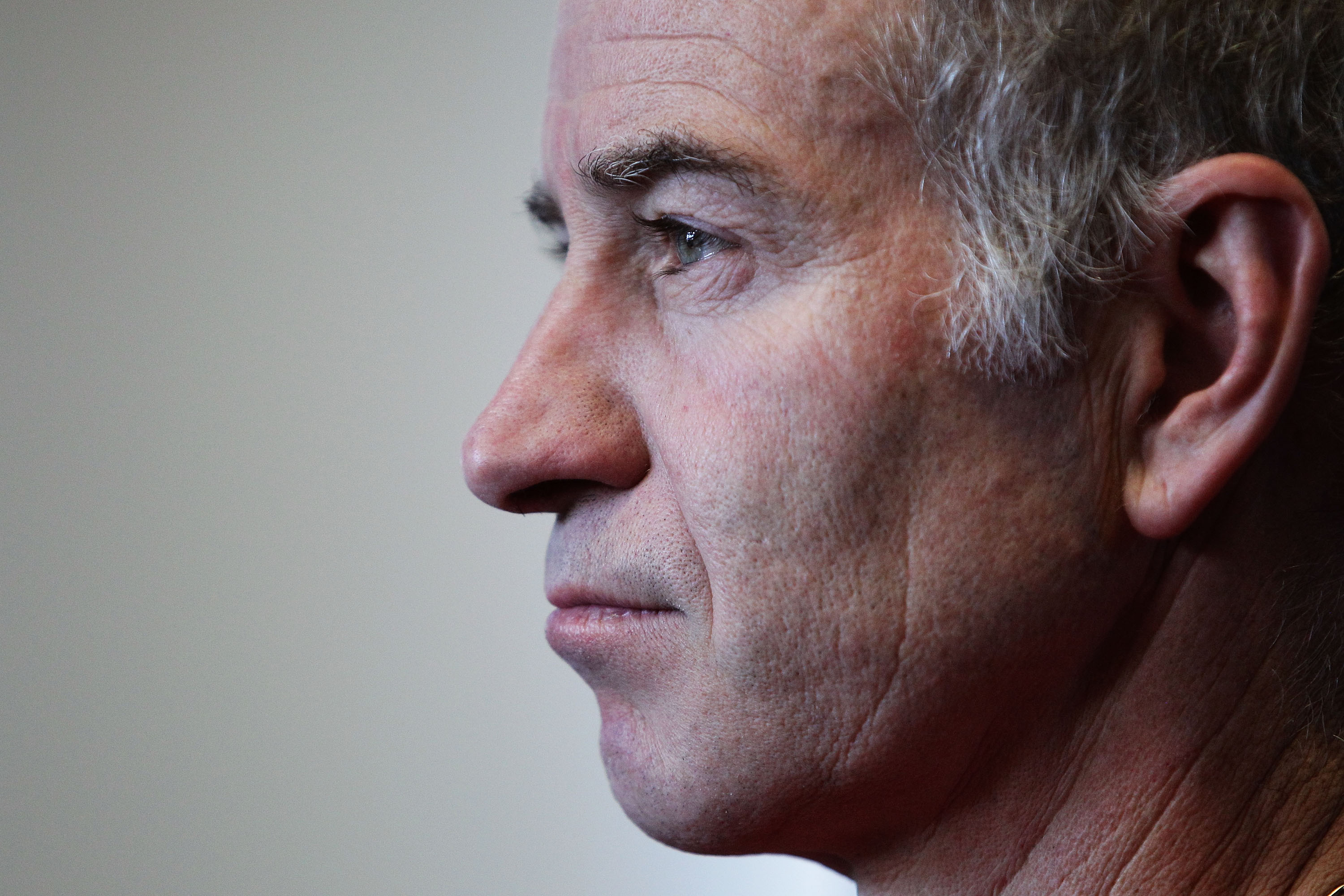 SYDNEY, AUSTRALIA - NOVEMBER 10:  Tennis player John McEnroe of the United States look on during a media session for the Champions Downunder Tournament at Events NSW on November 10, 2010 in Sydney, Australia.  (Photo by Brendon Thorne/Getty Images)