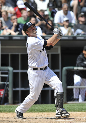 CHICAGO, IL - JUNE 12: Paul Konerko #14 of the Chicago White Sox bats against the Oakland Athletics on June 12, 2011 at U.S. Cellular Field in Chicago, Illinois. The White Sox defeated the Athletics 5-4. (Photo by David Banks/Getty Images)