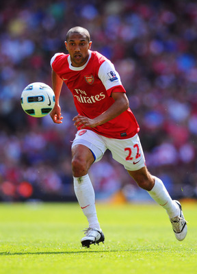 LONDON, ENGLAND - MAY 01:  Gael Clichy of Arsenal in action during the Barclays Premier League match between Arsenal and Manchester United at the Emirates Stadium on May 1, 2011 in London, England.  (Photo by Mike Hewitt/Getty Images)