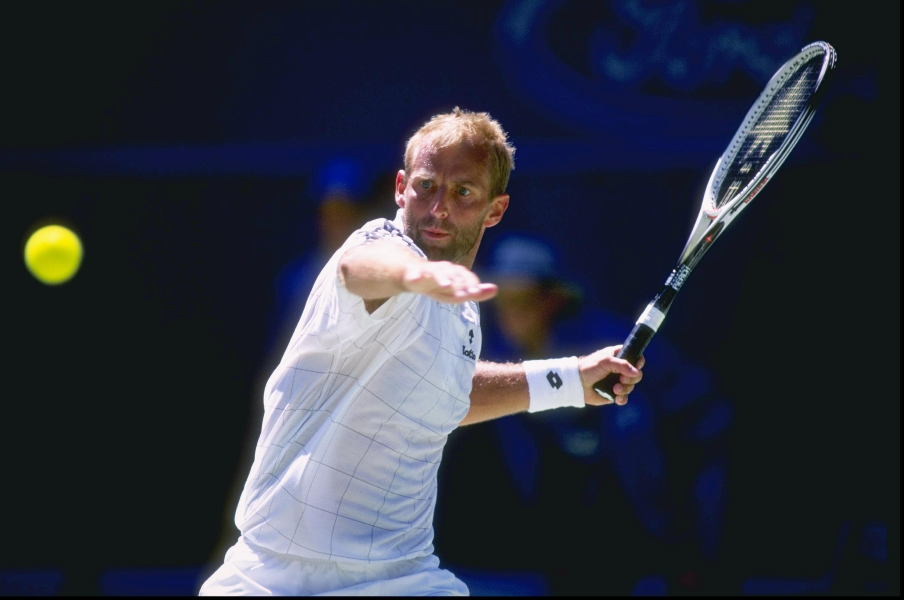 Jan 1997:  Thomas Muster of Austria in action during the Australian open at Flinders Park in Melbourne, Australia. \ Mandatory Credit: Clive Mason /Allsport