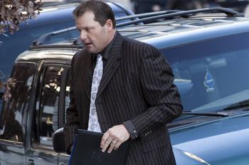 WASHINGTON - DECEMBER 8:  Roger Clemens arrives at Federal Court December 8, 2010 in Washington, DC.  Clemens, a former Major League Baseball pitcher, appeared at court for an interim status conference on charges he lied to Congress during a hearing on th