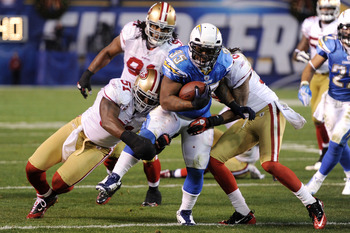 SAN DIEGO, CA - DECEMBER 16:  Running back Mike Tolbert #35 of the San Diego Chargers rushes with the ball against the San Francisco 49ers at Qualcomm Stadium on December 16, 2010 in San Diego, California.  (Photo by Harry How/Getty Images)