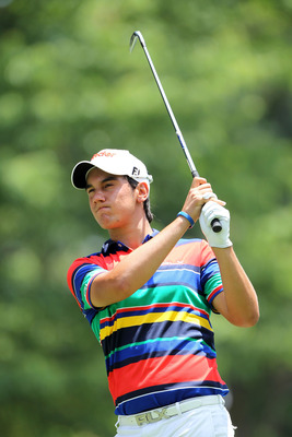 BETHESDA, MD - JUNE 18:  Matteo Manassero of Italy watches his tee shot on the seventh hole during the third round of the 111th U.S. Open at Congressional Country Club on June 18, 2011 in Bethesda, Maryland.  (Photo by Jamie Squire/Getty Images)