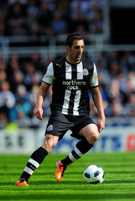 NEWCASTLE UPON TYNE, ENGLAND - MAY 22:  Newcastle player Jose Enrique in action during the Barclays Premier League game between Newcastle United and West Bromwich Albion at St James' Park on May 22, 2011 in Newcastle upon Tyne, England.  (Photo by Stu For