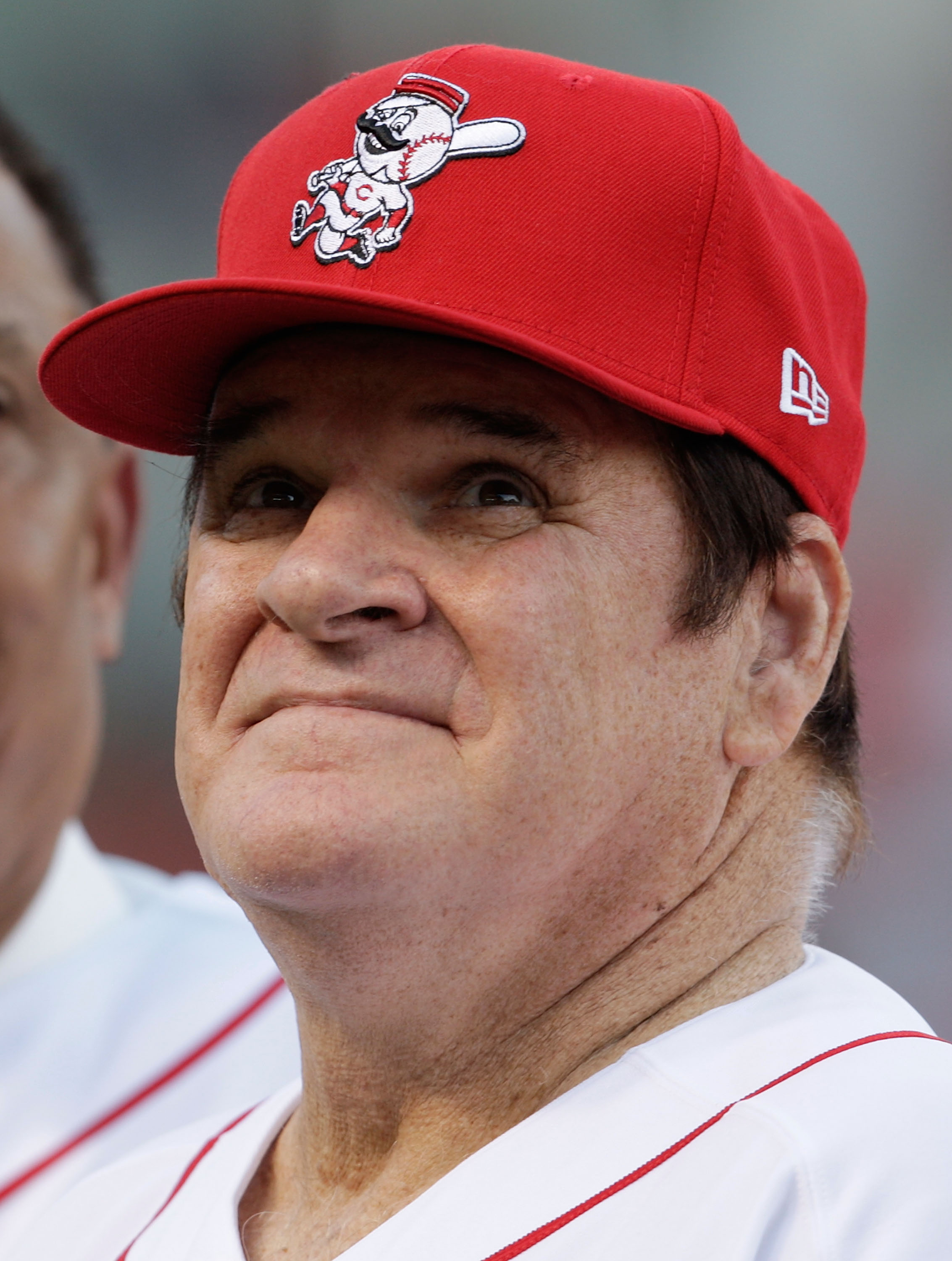 CINCINNATI - SEPTEMBER 11:  Pete Rose takes part in the ceremony celebrating the 25th anniversary of his breaking the career hit record of 4,192 on September 11, 2010 at Great American Ball Park in Cincinnati, Ohio. Rose was honored before the start of th