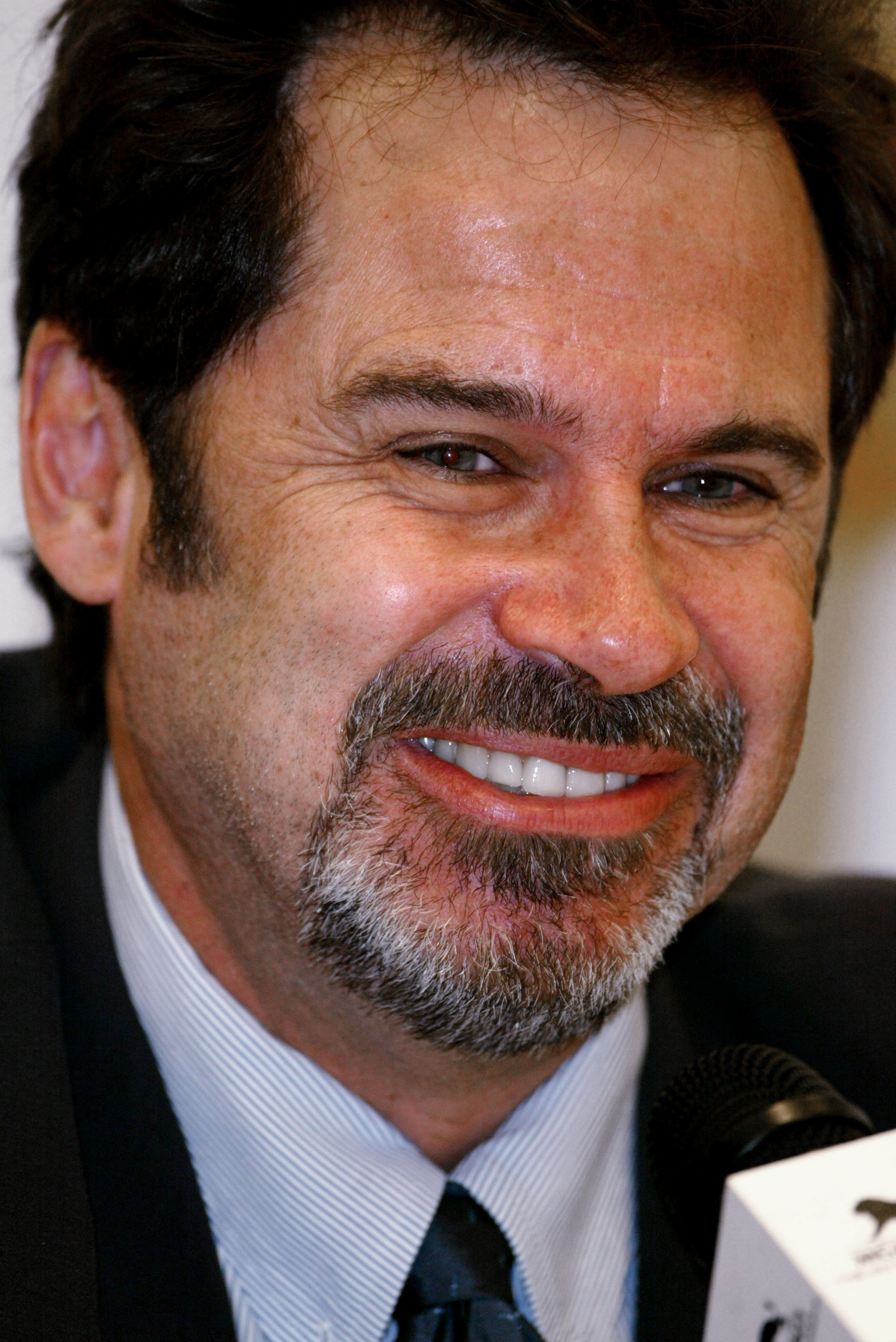 LAS VEGAS - OCTOBER 4:  Comedian Dennis Miller attends the press conference for the Andre Agassi Foundation's 8th Annual Grand Slam for Children benefit concert at the MGM Grand Garden Arena October 4, 2003 in Las Vegas, Nevada.  (Photo by Carlo Allegri/G