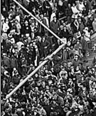 Fallen Goalposts, 1969: Michigan 24, Ohio State12 (Photo: Bentley Historical Library, University of Michigan)