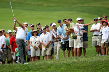 BETHESDA, MD - JUNE 17:  Luke Donald of England waits on the second tee during the second round of the 111th U.S. Open at Congressional Country Club on June 17, 2011 in Bethesda, Maryland.  (Photo by Jamie Squire/Getty Images)