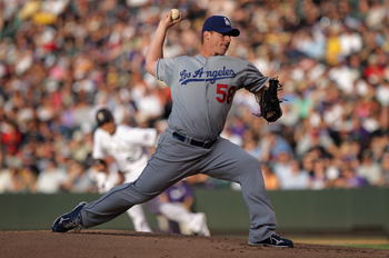 DENVER, CO - JUNE 10:  Starting pitcher Chad Billingsley #58 of the Los Angeles Dodgers delivers against the Colorado Rockies at Coors Field on June 10, 2011 in Denver, Colorado. Billingsley collected the loss as the Rockies defeated the Dodgers 6-5.  (Ph